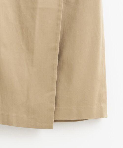 le.coeur blanc / ルクールブラン ミニ・ひざ丈スカート | コットンサテンラップライクタイトスカート | 詳細4