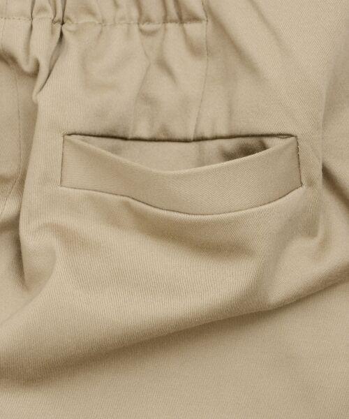 le.coeur blanc / ルクールブラン ミニ・ひざ丈スカート   コットンサテンラップライクタイトスカート   詳細5