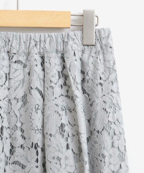 le.coeur blanc / ルクールブラン ミニ・ひざ丈スカート   フラワースカラップレースギャザースカート   詳細2