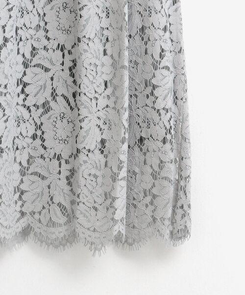 le.coeur blanc / ルクールブラン ミニ・ひざ丈スカート   フラワースカラップレースギャザースカート   詳細4