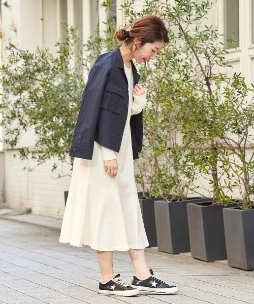 le.coeur blanc / ルクールブラン ロング・マキシ丈ワンピース | スエットフレアロングワンピース | 詳細8