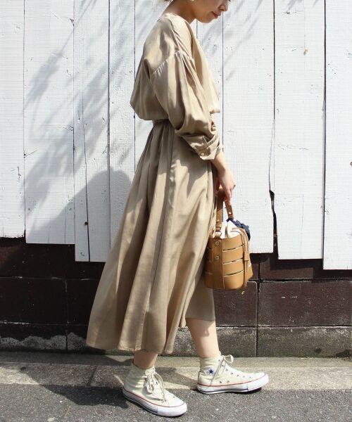 le.coeur blanc / ルクールブラン ロング・マキシ丈ワンピース | リヨセルオープンカラーワンピース | 詳細20
