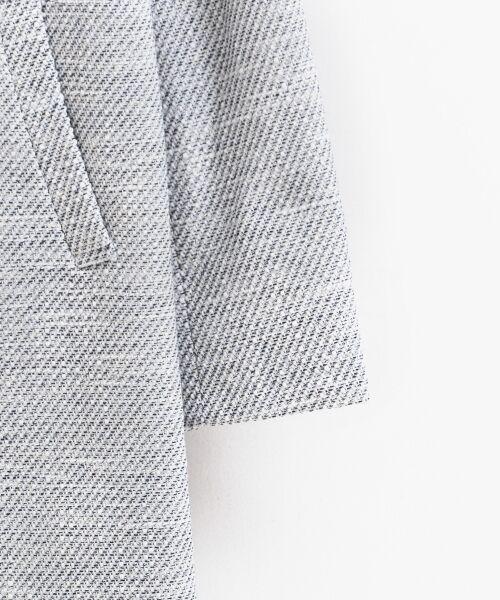 le.coeur blanc / ルクールブラン ノーカラージャケット | ツィードノーカラーロングジャケット | 詳細3