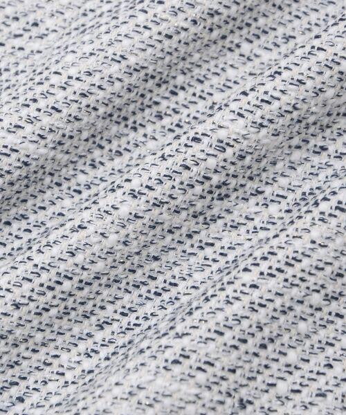 le.coeur blanc / ルクールブラン ノーカラージャケット | ツィードノーカラーロングジャケット | 詳細6