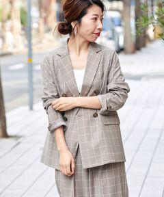 -2019SS-<br><br>適度にゆとりのあるシルエットで大人の抜け感を演出してくれる一着。<br>ウインドウペン柄も今年らしく、同素材のセミワイドパンツとセットアップでの着こなしもおすすめ。<br>春らしい爽やかなウインドウペン柄でスタイリッシュなスタイリングに◎<br>洗い不可 ドライクリーニング可<br>*水濡れによる色落ち・色移りにご注意下さい。