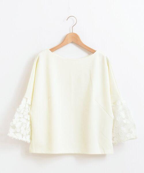 le.coeur blanc / ルクールブラン カットソー | スリーブフラワーレースプルオーバー | 詳細7