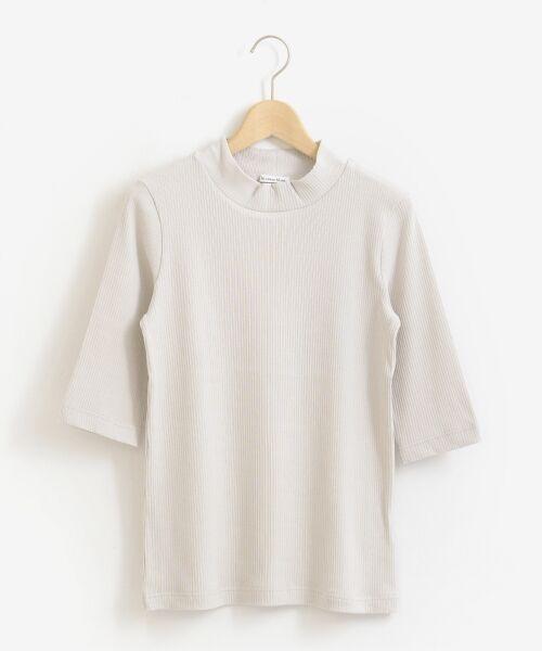 le.coeur blanc / ルクールブラン カットソー | ハイネックリブ5分袖プルオーバー | 詳細7
