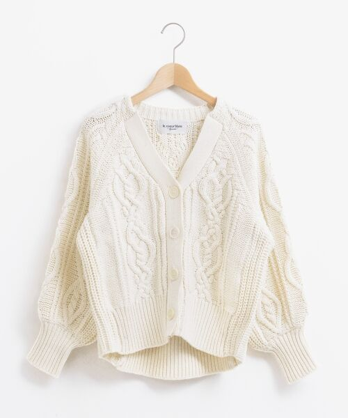 le.coeur blanc / ルクールブラン ニット・セーター | ケーブル柄コクーンカーディガン | 詳細10