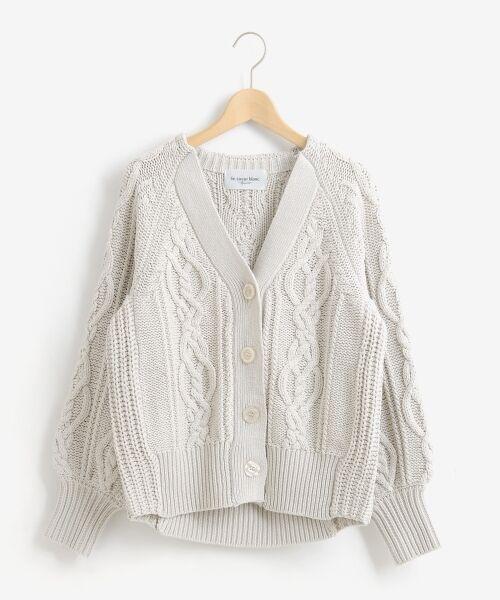 le.coeur blanc / ルクールブラン ニット・セーター | ケーブル柄コクーンカーディガン | 詳細20