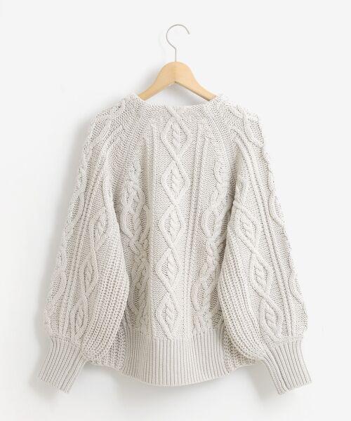 le.coeur blanc / ルクールブラン ニット・セーター | ケーブル柄コクーンカーディガン | 詳細6