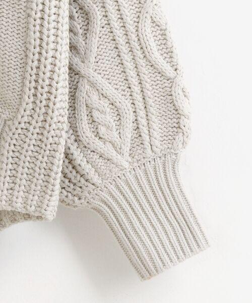 le.coeur blanc / ルクールブラン ニット・セーター | ケーブル柄コクーンカーディガン | 詳細8