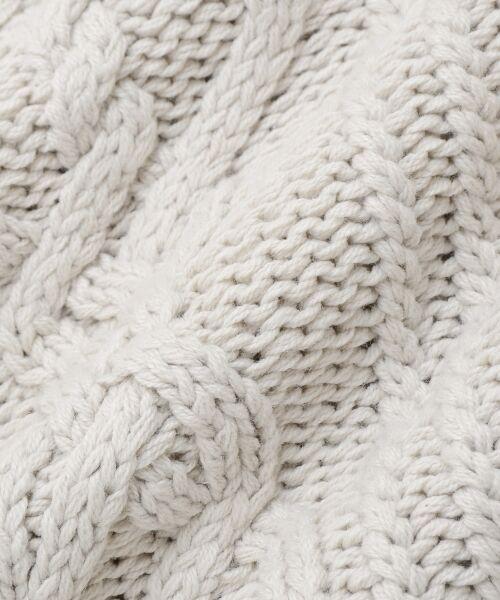 le.coeur blanc / ルクールブラン ニット・セーター | ケーブル柄コクーンカーディガン | 詳細9