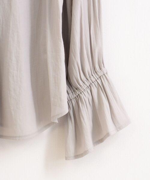 le.coeur blanc / ルクールブラン シャツ・ブラウス | パウダーサテン2wayギャザーブラウス | 詳細3