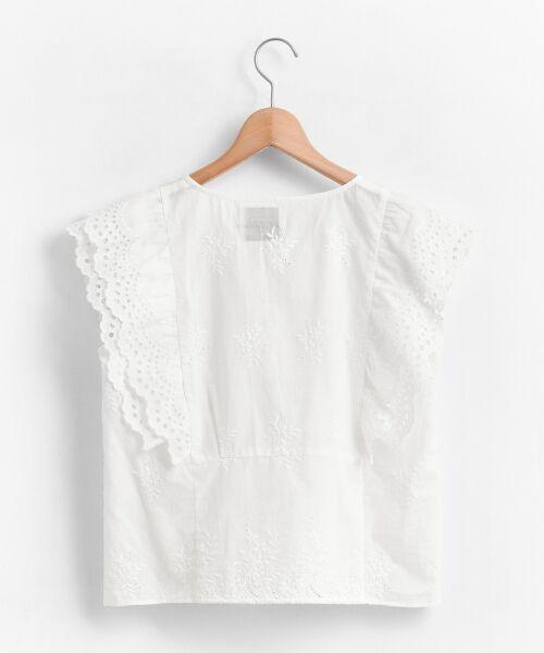 le.coeur blanc / ルクールブラン シャツ・ブラウス | eclat刺繍レースフリルブラウス | 詳細1