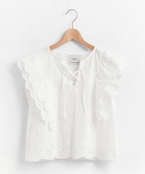 le.coeur blanc / ルクールブラン シャツ・ブラウス | eclat刺繍レースフリルブラウス | 詳細11