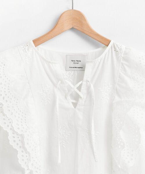 le.coeur blanc / ルクールブラン シャツ・ブラウス | eclat刺繍レースフリルブラウス | 詳細2
