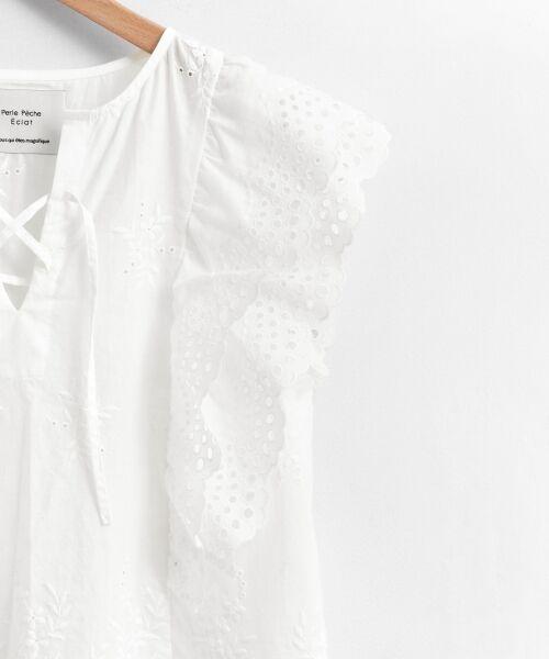 le.coeur blanc / ルクールブラン シャツ・ブラウス | eclat刺繍レースフリルブラウス | 詳細3