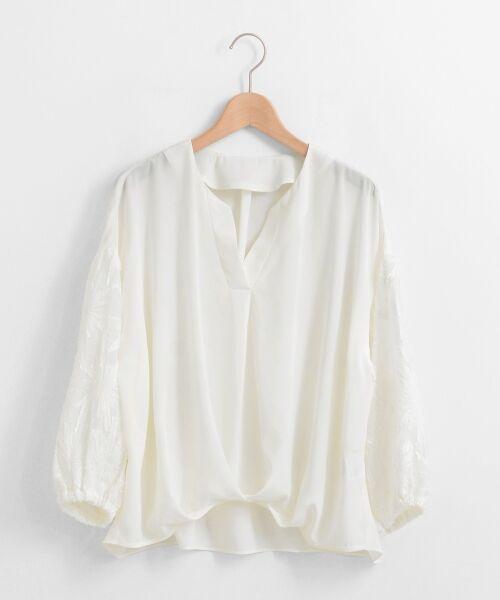 le.coeur blanc / ルクールブラン シャツ・ブラウス | 楊柳ジャガードスキッパーブラウス | 詳細10