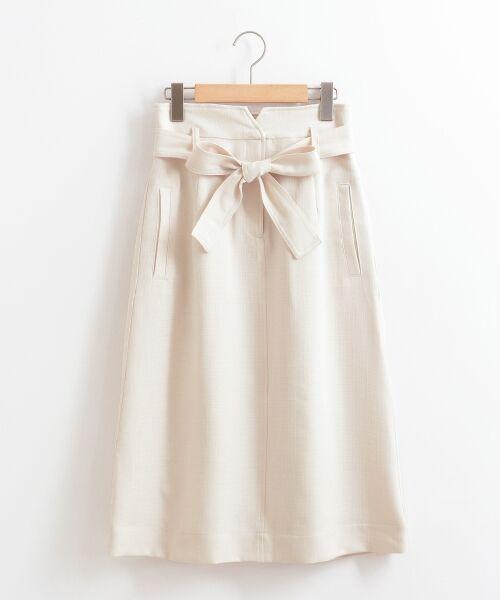 le.coeur blanc / ルクールブラン ロング・マキシ丈スカート | ウエストリボンAラインスカート | 詳細12