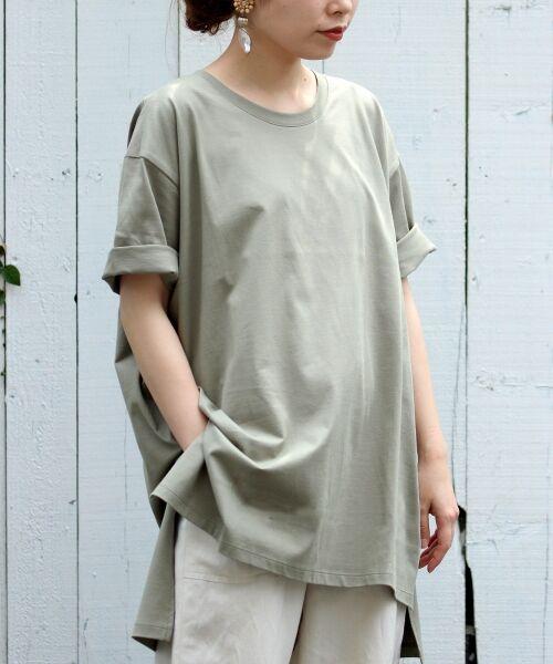 le.coeur blanc / ルクールブラン Tシャツ | BIG Tシャツ(カーキグリーン)