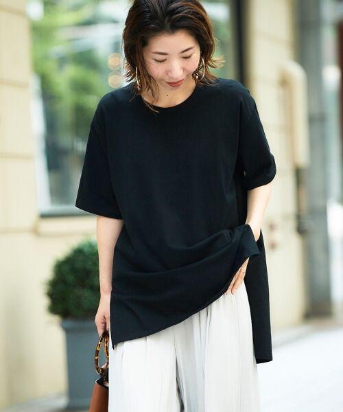 le.coeur blanc / ルクールブラン Tシャツ | BIG Tシャツ(ブラック)