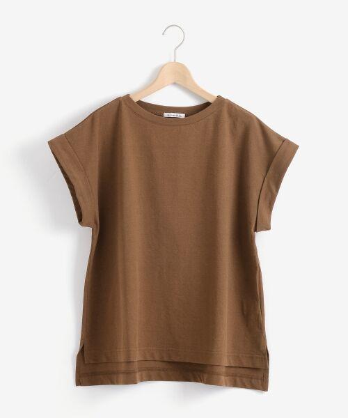 le.coeur blanc / ルクールブラン Tシャツ   サイドスリットロールアップスリーブTシャツ   詳細1
