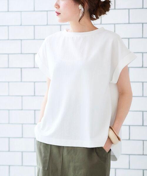 le.coeur blanc / ルクールブラン Tシャツ   サイドスリットロールアップスリーブTシャツ   詳細10