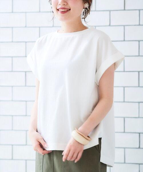 le.coeur blanc / ルクールブラン Tシャツ   サイドスリットロールアップスリーブTシャツ   詳細11