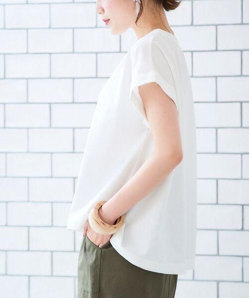 le.coeur blanc / ルクールブラン Tシャツ   サイドスリットロールアップスリーブTシャツ   詳細12