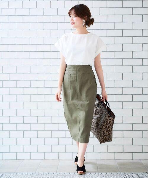 le.coeur blanc / ルクールブラン Tシャツ   サイドスリットロールアップスリーブTシャツ   詳細18