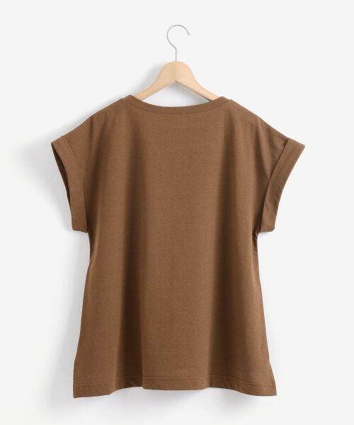le.coeur blanc / ルクールブラン Tシャツ   サイドスリットロールアップスリーブTシャツ   詳細19