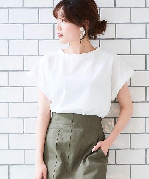 le.coeur blanc / ルクールブラン Tシャツ   サイドスリットロールアップスリーブTシャツ   詳細26