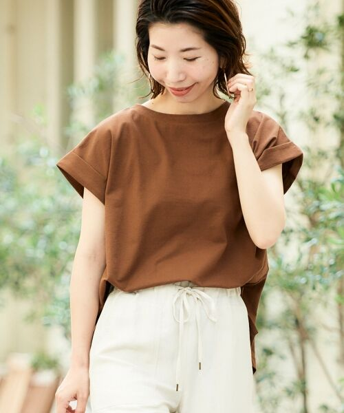 le.coeur blanc / ルクールブラン Tシャツ   サイドスリットロールアップスリーブTシャツ   詳細28