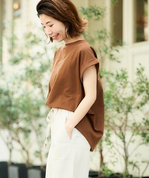 le.coeur blanc / ルクールブラン Tシャツ   サイドスリットロールアップスリーブTシャツ   詳細29