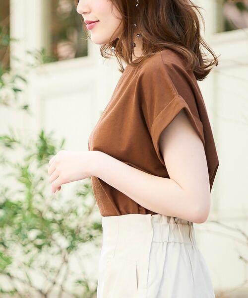 le.coeur blanc / ルクールブラン Tシャツ   サイドスリットロールアップスリーブTシャツ   詳細3