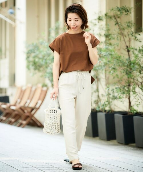 le.coeur blanc / ルクールブラン Tシャツ   サイドスリットロールアップスリーブTシャツ   詳細30