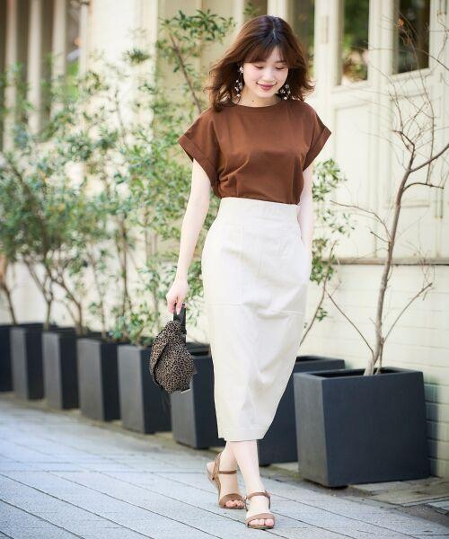le.coeur blanc / ルクールブラン Tシャツ   サイドスリットロールアップスリーブTシャツ   詳細4