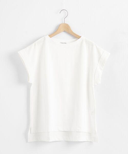 le.coeur blanc / ルクールブラン Tシャツ   サイドスリットロールアップスリーブTシャツ   詳細7