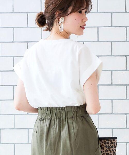 le.coeur blanc / ルクールブラン Tシャツ   サイドスリットロールアップスリーブTシャツ   詳細9