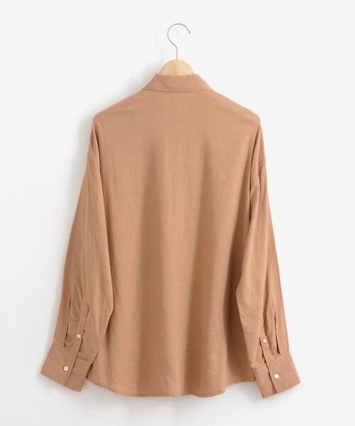 le.coeur blanc / ルクールブラン シャツ・ブラウス | レーヨンリネンフラップポケットビッグシャツ | 詳細1