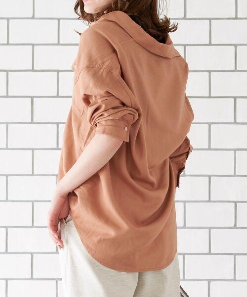 le.coeur blanc / ルクールブラン シャツ・ブラウス | レーヨンリネンフラップポケットビッグシャツ | 詳細11
