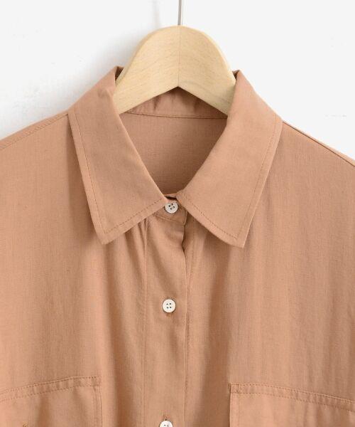 le.coeur blanc / ルクールブラン シャツ・ブラウス | レーヨンリネンフラップポケットビッグシャツ | 詳細2