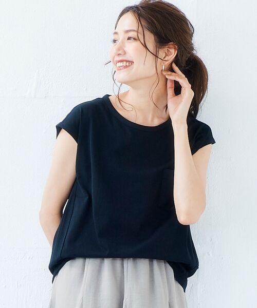 le.coeur blanc / ルクールブラン Tシャツ | ポケ付フレンチTシャツ | 詳細22