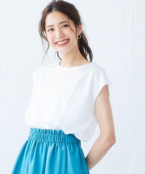 le.coeur blanc / ルクールブラン Tシャツ | ポケ付フレンチTシャツ(オフ)