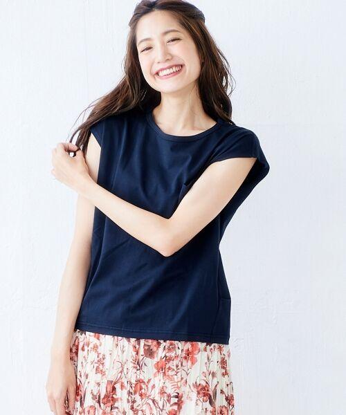 le.coeur blanc / ルクールブラン Tシャツ | ポケ付フレンチTシャツ(ネイビー)