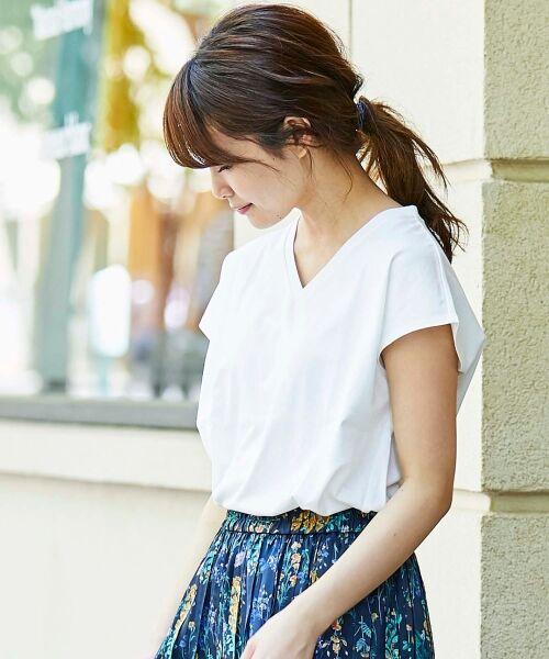 le.coeur blanc / ルクールブラン Tシャツ | VネックフレンチTシャツ | 詳細20