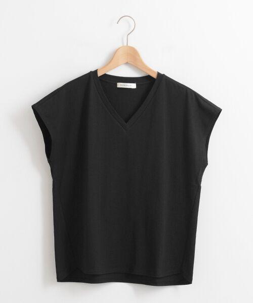 le.coeur blanc / ルクールブラン Tシャツ | VネックフレンチTシャツ | 詳細25