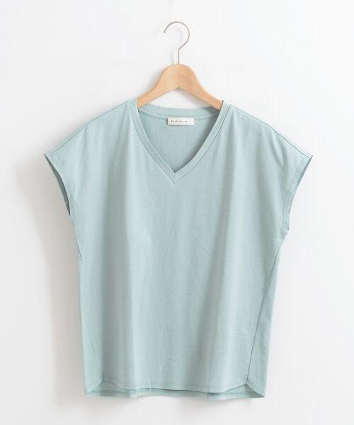 le.coeur blanc / ルクールブラン Tシャツ | VネックフレンチTシャツ | 詳細5