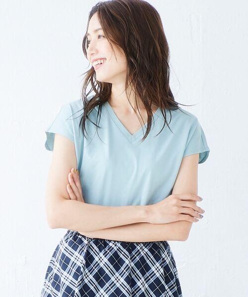 le.coeur blanc / ルクールブラン Tシャツ | VネックフレンチTシャツ | 詳細8