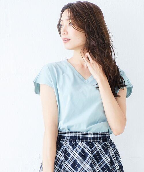 le.coeur blanc / ルクールブラン Tシャツ | VネックフレンチTシャツ | 詳細9